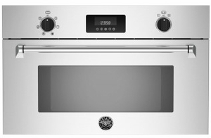 "MASCS30X Bertazzoni 30"" Master Series Single Convection Steam Oven with Intuitive Controls - Stainless Steel"