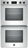 "MASFD30XV Bertazzoni Master Series 30"" Double Convection Self Clean Oven with Dual Diagonal Convection - Stainless Steel"
