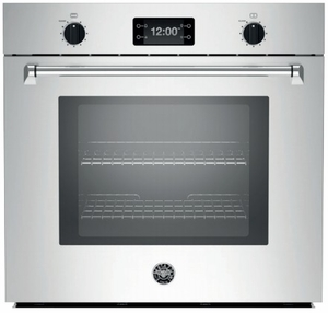 "MASFS30XT Bertazzoni Master Series 30"" Single Convection Self Clean Oven with Assistant - Stainless Steel"
