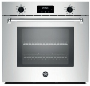 "MASFS30XV Bertazzoni Master Series 30"" Single Convection Self Clean Oven with Dual Diagonal Convection - Stainless Steel"