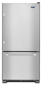 MBF1958DEM Maytag 30-inch Bottom Freezer Refrigerator with 10-Year Limited Parts Warranty on the Compressor - Stainless Steel