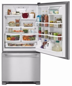 """MBF1958FEZ Maytag 30"""" Bottom Mount Refrigerator with BrightSeries LED Lighting - Fingerprint Resistant Stainless Steel"""
