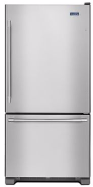 "MBF1958FEZ Maytag 30"" Bottom Mount Refrigerator with BrightSeries LED Lighting - Fingerprint Resistant Stainless Steel"