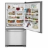 "MBF2258FEZ Maytag 33"" Bottom-Freezer Refrigerator with Humidity-Controlled FreshLock Crispers and Fingerprint Resistant Stainless Steel Stainless Steel"
