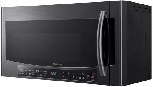 "MC17J8000CG Samsung 30"" 1.7 cu. ft. Over-The-Range Convection Microwave with 950 Watts 10 Power Levels - Black Stainless Steel"