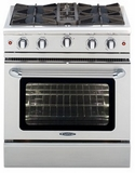 """MCOR304L Capital 30"""" Culinarian Series Liquid Propane Gas Manual Clean Range with Open Burners - Stainless Steel"""