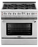 """MCR366L Capital Precision Series 36"""" LP Gas Range with 6 Power-Flo Burners - Stainless Steel"""