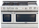 "MCR484BGN Capital Precision Series 48"" Natural Gas Range with 4 Power-Flo Burners, Thermo Griddle & Hybrid Radiant BBQ Grill - Stainless Steel"