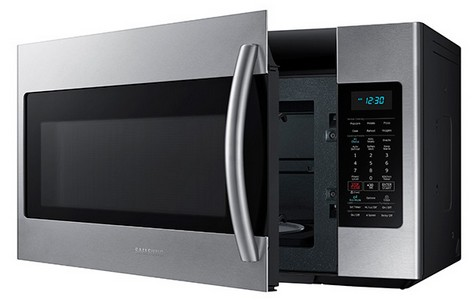 Me18h704sfs Samsung 1 8 Cu Ft Over The Range Microwave With Sensor Cooking Stainless Steel