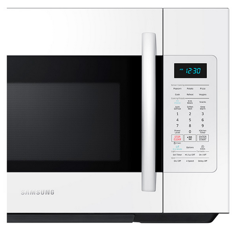 ME18H704SFW Samsung 1.8 cu.ft. Over The Range Microwave with Sensor Cooking - White