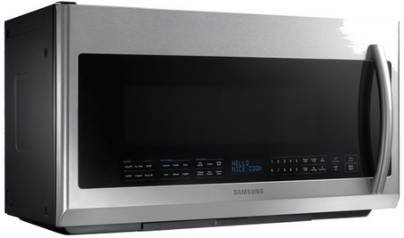 Me21f707mjt Samsung 2 1 Cu Ft Over The Range Microwave Stainless Steel