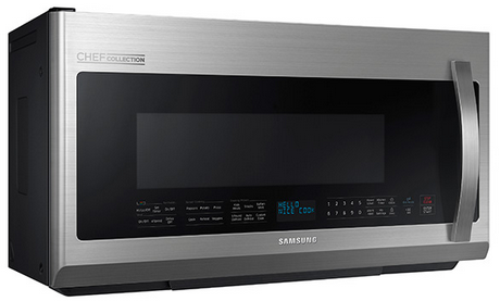 Me21h9900as Samsung 2 1 Cu Ft Over The Range Microwave With Pro Clean Filter Stainless Steel
