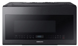 "ME21M706BAG Samsung 30"" 2.1 cu. ft. Over-The-Range Microwave with Sensor Cook and Precise Glass Controls - Fingerprint Resistant Black Stainless Steel"