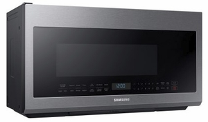 """ME21M706BAS Samsung 30"""" 2.1 cu. ft. Over-The-Range Microwave with Sensor Cook and Precise Glass Controls - Fingerprint Resistant Stainless Steel"""