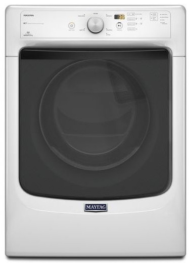 MED3100DW Maytag Maxima  7.4 cu. ft. High Efficiency Dryer with Large Capacity and Advanced Moisture Sensing - White