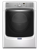 "MED8200FW Maytag 27"" 7.4 cu. ft. Front Load Electric Dryer with Steam-Enhanced Dryer and PowerDry System - White"