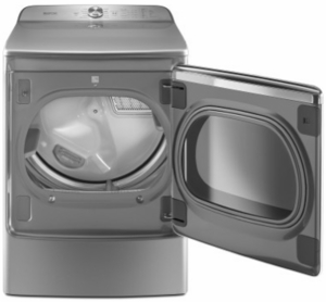 """MEDB955FC Maytag 29"""" Front Load Dryer with the PowerDry System and Extra Moisture Sensor - Chrome Shadow"""