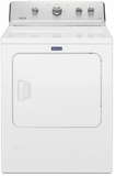 "MEDC465HW Maytag 29"" 7.0 cu. ft. Front Load Large Capacity Electric Dryer with Wrinkle Control Option and Intellidry Sensor - White"