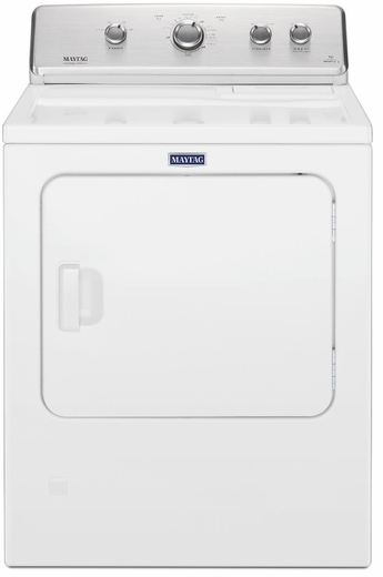 """MEDC465HW Maytag 29"""" 7.0 cu. ft. Front Load Large Capacity Electric Dryer with Wrinkle Control Option and Intellidry Sensor - White"""