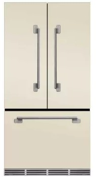 "MELFDR23IVY Aga 36"" Mercury French Door Counter Depth Refrigerator with Humidity-Controlled Crisper Drawers and Theatre-Style Interior Lighting - Ivory"