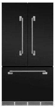 "MELFDR23MBL AGA 36"" Mercury French Door Counter Depth Refrigerator with Humidity-Controlled Crisper Drawers and Theatre-Style Interior Lighting - Matte Black"