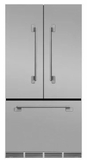 "MELFDR23SS AGA 36"" Mercury French Door Counter Depth Refrigerator with Humidity-Controlled Crisper Drawers and Theatre-Style Interior Lighting - Stainless Steel"