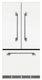 "MELFDR23WHT AGA 36"" Mercury French Door Counter Depth Refrigerator with Humidity-Controlled Crisper Drawers and Theatre-Style Interior Lighting - White"