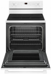 "MER6600FW Maytag 30"" 5 cu. ft. Capacity Freestanding Electric Range with Precision Cooking and Power Burner - White"