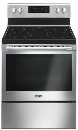 "MER6600FZ Maytag 30"" 5 cu. ft. Capacity Freestanding Electric Range with Precision Cooking and Power Burner - Finger Print Resistant Stainless Steel"