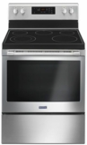 "MER6600FZ Maytag 30"" 5 cu. ft. Capacity Freestanding Electric Range with Precision Cooking and Power Burner - Fingerprint Resistant Stainless Steel"