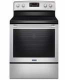 "MER8650FZ 30"" Maytag Heritage Series  6.4 cu. ft. Free Standing Electric Range with AquaLift Self-Clean and Fan Convection - Fingerprint Resistant Stainless Steel"