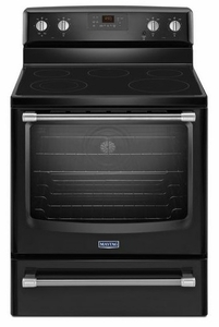 MER8700DB Maytag 6.2 cu. ft. Electric Freestanding Range with Convection Oven - Black