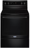 "MER8800FB 30"" Maytag 6.4 cu. ft. Electric Range with True Convection and Power Preheat - Black"