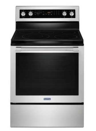 "MER8800FZ 30"" Maytag 6.4 cu. ft. Electric Range with True Convection and Power Preheat - Fingerprint Resistant Stainless Steel"