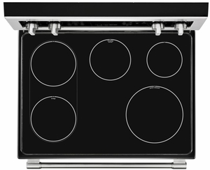 """MET8800FZ 30"""" Maytag 6.7 cu. ft. Double Oven Electric Range with True Convection and Power Element - Fingerprint Resistant Stainless Steel"""
