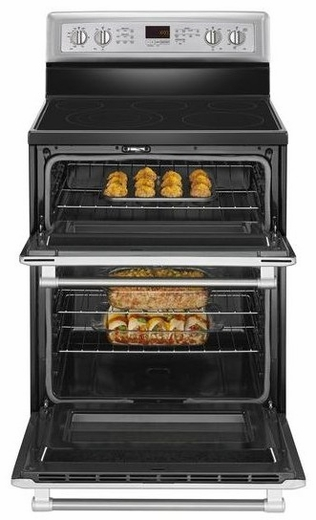 MET8820DS Maytag Gemini Double Oven 6.7 cu. ft. Electric Stove with EvenAir True Convection - Stainless Steel