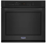 """MEW9527FB Maytag 27"""" Single Wall Oven with True Convection and Power Preheat - Black"""