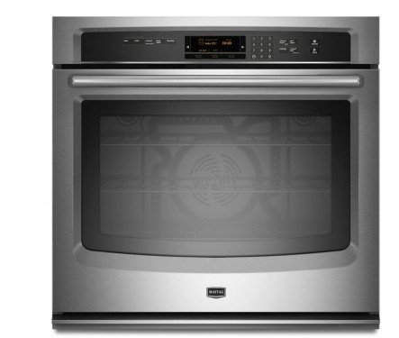 """MEW9527FZ Maytag 27"""" Single Wall Oven with True Convection - Fingeprint Resistant Stainless Steel"""