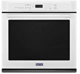 """MEW9530FW Maytag 30"""" Single Wall Oven with True Convection and Power Preheat - White"""
