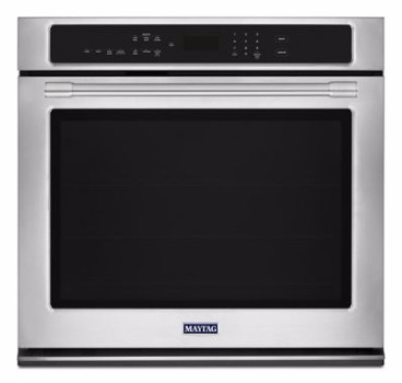 "MEW9530FZ Maytag 30"" 5.0 cu. ft. Capacity Electric Wall Oven with Extra Large Oven Window and Temperature-Sensor Baking - Fingerprint Resistant Stainless Steel"