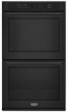 """MEW9627FB Maytag 27"""" Double Electric Wall Oven with True Convection and Variable Broil - Black"""