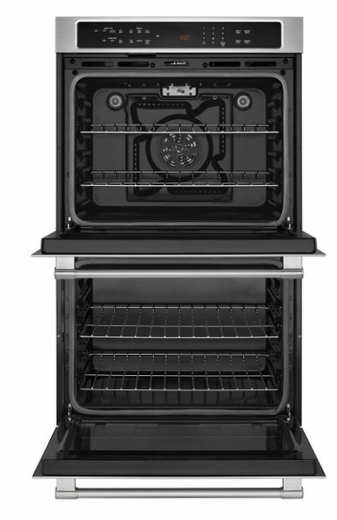 """MEW9627FZ Maytag 27"""" Double Electric Wall Oven with True Convection and Variable Broil - Fingerprint Resistant Stainless Steel"""