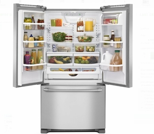 Mfc2062fez 36 Maytag 20 Cu Ft Counter Depth French Door Refrigerator With Gallon Bins And Ice Maker