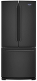 """MFF2055FRB Maytag 30"""" French Door Refrigerator with BrightSeries LED Lighting and Humidity-Controlled FreshLock - Black"""