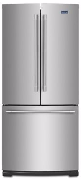 """MFF2055FRZ  Maytag 30"""" French Door Refrigerator with BrightSeries LED Lighting and Humidity Controlled FreshLock - Fingerprint Resistant Stainless Steel"""