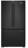 """MFF2558FEB Maytag 36"""" French Door Refrigerator with BrightSeries LED Lighting and Humidity Controlled FreshLock - Black"""