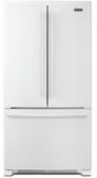 """MFF2558FEW Maytag 36"""" French Door Refrigerator with BrightSeries LED Lighting and Humidity Controlled FreshLock - White"""