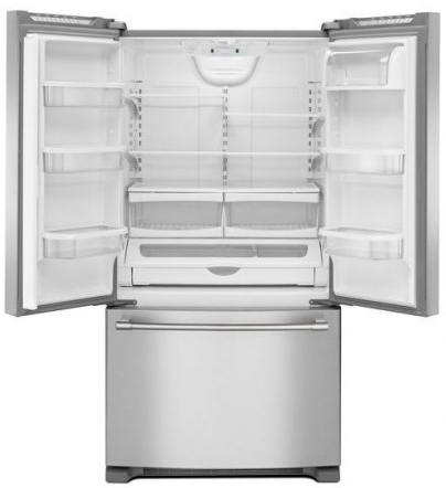 """MFF2558FEZ Maytag 36"""" French Door Refrigerator with BrightSeries LED Lighting and Humidity Controlled FreshLock - Fingerprint Resistant Stainless Steel"""