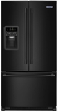 "MFI2269FRB 33"" Maytag 22 cu. ft. French Door Refrigerator with BrightSeries LED Lighting and PowerCold Feature - Black"