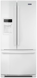 "MFI2269FRW 33"" Maytag 22 cu. ft. French Door Refrigerator with BrightSeries LED Lighting and PowerCold Feature - White"